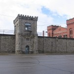 A view of Tower 7 with Cellblock 1 in the background of the Old Montana Prison SOURCE Wikipedia Public Domain