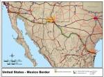 U.S. Mexico Border MAP SOURCE mapworld.com Public Domain