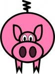Cartoon pig SOURCE wpclipart.com Public Domain
