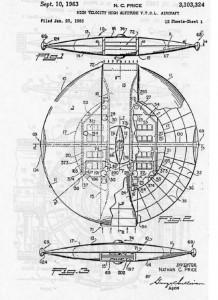 UFO shaped craft patent1