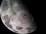 Closeup of the moon SOURCE NASA