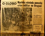 Cover the newspaper O Globo with the first photo of a Panar SOURCE Before its News