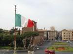 Italian Flag over Piazza_Venezia_dal_Vittoriano CREDIT Luca.p SOURCE Wikipedia Public Domain