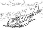 Crashed Airplane,Clip Art Image SOURCE: Wpclipart-Com  (Public-Domain)