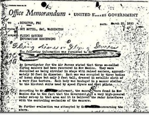 UFO Memo March 22,1950 SOURCE U.S. government Public Domain