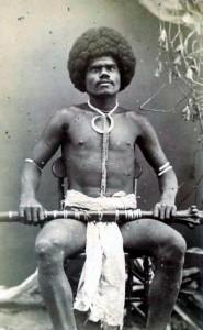 Fijian_mountain_warrior,_Kai_Colo CREDIT F.H.  Duffy, Levuka, Fiji. SOURCE Wikipedia Commons Public Domain
