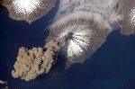 Volcano MtCleveland_from ISC CREDIT ISS Crew Earth Observations experiment and the Image Science & Analysis Group, Johnson Space Center. SOURCE Wikipedia Commons Public Domain