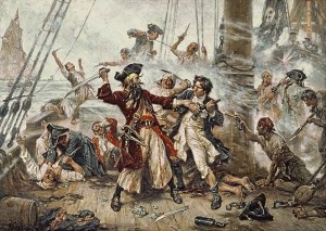 Capture-of-Blackbeard CREDIT Jean Leon Gerome SOURCE Wikipedia Commons Public Domain