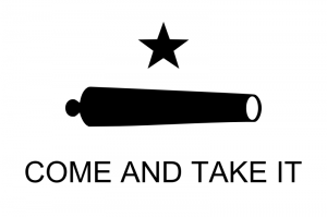 Texas_Flag_Come_and_Take_It CREDIT DevinCook  SOURCE Wikipedia Commons Public Domain