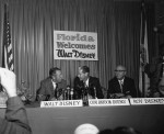 Walt_Disney_with_Company_at_Press_Conference SOURCE Wikipedia Commons Public Domain
