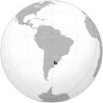 Uruguay_orthographic_projection.CREDIT Connormah SOURCE Wikipedia Commons Public Domain