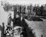 Dead put in mass grave after Wounded Knee SOURCE Library of Congress Public Domain