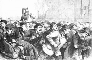 Police BrutalityTompkins_square_riot_1874 CREDIT Matt Morgan SOURCE wikipedia Commons Public domain