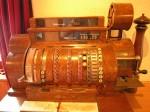 Antique crank-operated cash register Wikipedia Public Domain