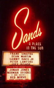 Sands_Casino_Sign A Las Vegas photographer  Life time1996 - Original publication The early 50s Public Domain